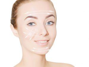 Fokus ultrason cihazı yüz gerdirme yapılmaktadır.