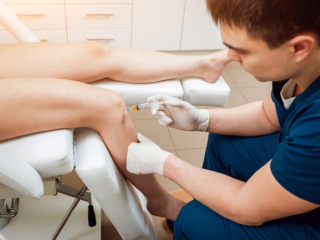 Prp tedavisinde diz eklem sorunları giderilmektedir.